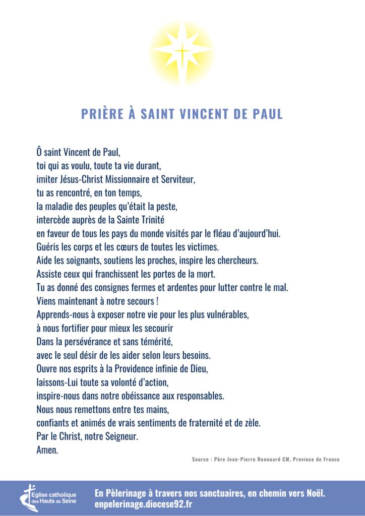 Prière à saint Vincent de Paul